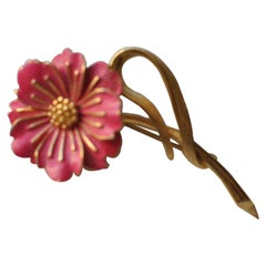 "1960s Marcel Boucher ""Wild Rose"" Signed and Numbered Brooch"