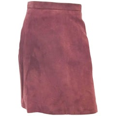 1980s Alaïa Brown Suede Skirt