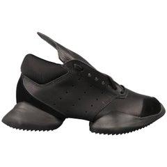 Rick Owens Adidas Women's Black Leather Runner Sneakers