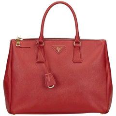 Prada Red Saffiano Galleria Bag