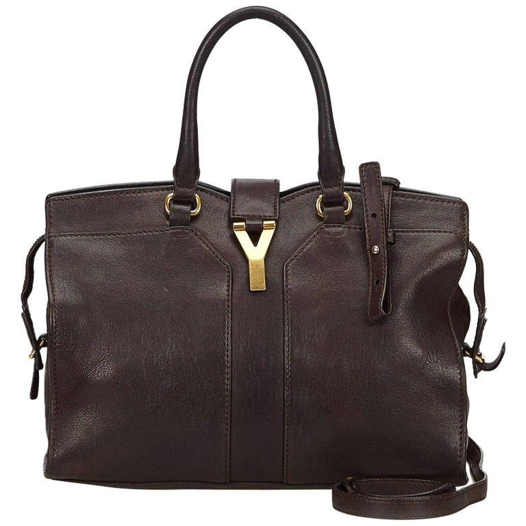 YSL	Brown Cabas Chyc Satchel