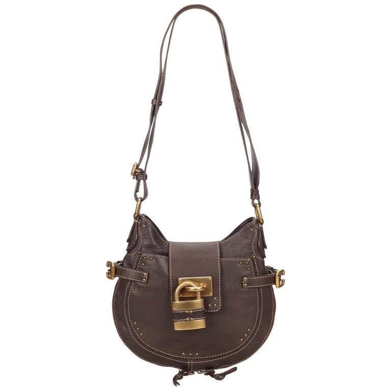 1721120879 Chloe Brown Leather Paddington Shoulder Bag at 1stdibs