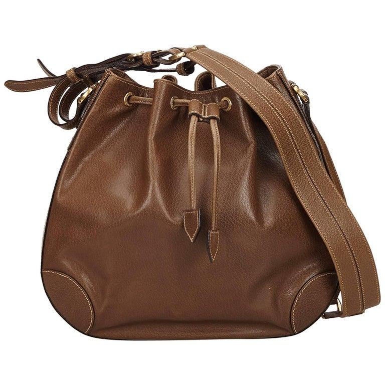 Gucci Brown Old Gucci Leather Shoulder Bag