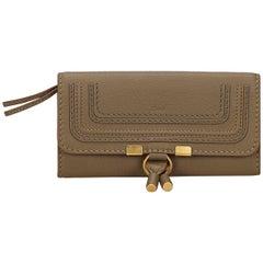 Chloe Brown Leather Marcie Long Wallet