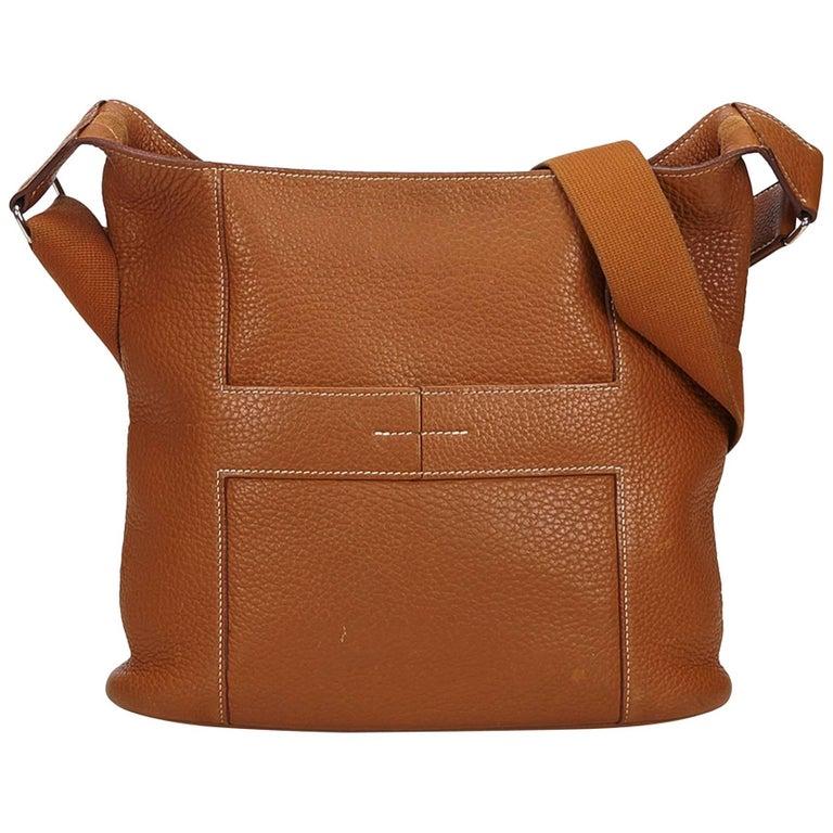Hermes Brown Taurillon Sac Good News PM Bag