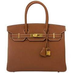 Hermès 30 Togo Gold Gold Hardware Birkin Bag