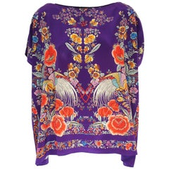 Roberto Cavalli Multicolored Silk Blouse