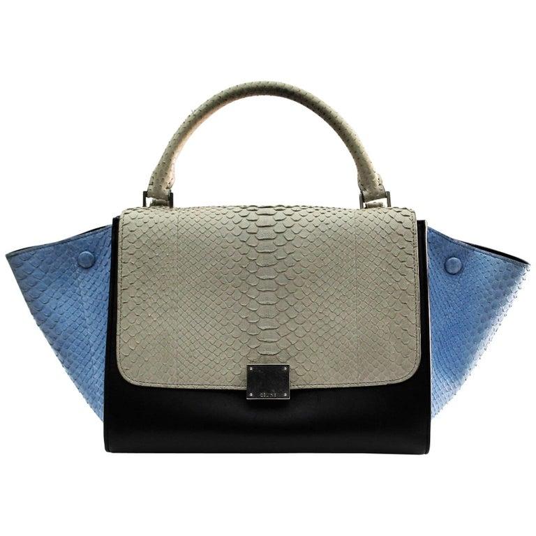 Celine Multicolor Python Leather Shoulder Bag, 2016 For Sale