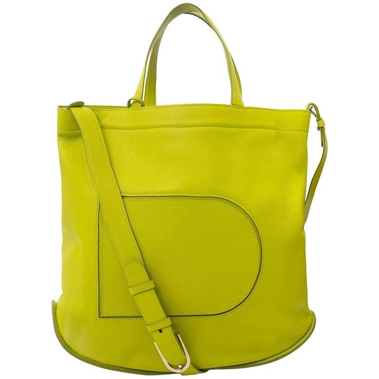 Delvaux Le Pin Cabas Allure Absinthe Shoulder Bag