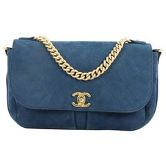 Chanel Paris in Rome Messenger Bag Quilted Nubuck Small