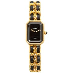 Chanel Gold Plate Première quartz Wristwatch, 1987
