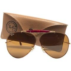 Ray Ban Vintage Shooter Tortuga 62Mm B15 Lenses B / L Sunglasses, 1980s