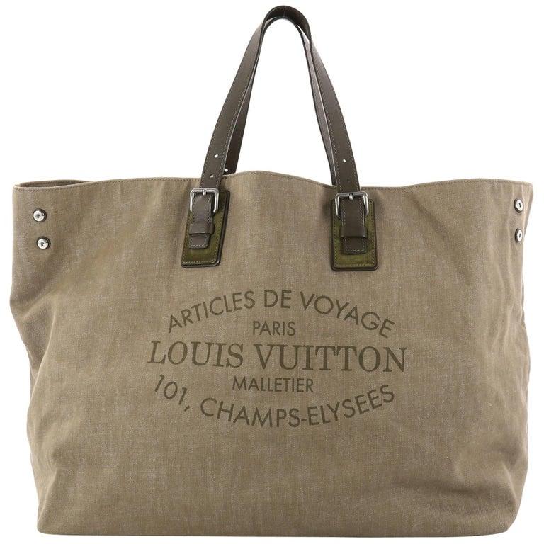699c9ebba6f Louis Vuitton Limited Edition Articles de Voyage Cabas Denim XL