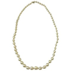 Chanel Couture Necklace in Molten Glass Pearls