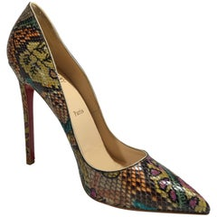 Christian Louboutin So Kate Python Pump