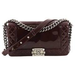 Chanel Reverso Patent Old Medium Boy Flap Bag
