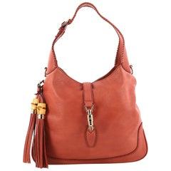 Gucci New Jackie Handbag Leather Medium