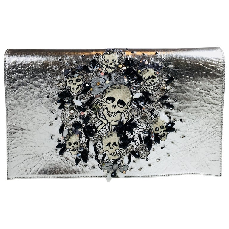 Preciously Paris Skull Shoulder Bag