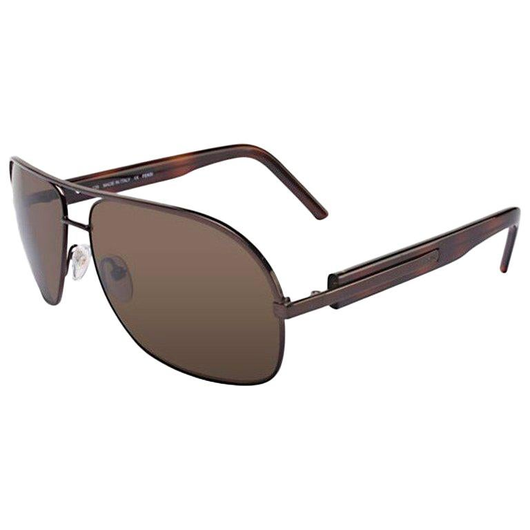 1fabade7d2539 New Fendi Aviator Unisex Sunglasses With Case For Sale at 1stdibs