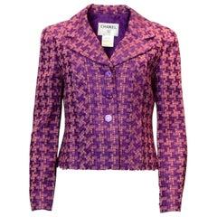 Chanel Purple & Pink Jacket Sz FR42