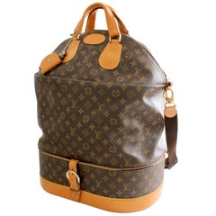 Louis Vuitton French Co XL Steamer Bag Monogram Travel Tote 2 Section + Strap