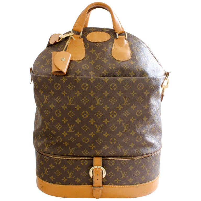 9a494356b144 Louis Vuitton Rare Steamer Bag with Split Compartments French Company Travel  70s For Sale