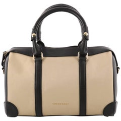Burberry Alchester Convertible Satchel Canvas with Leather Medium