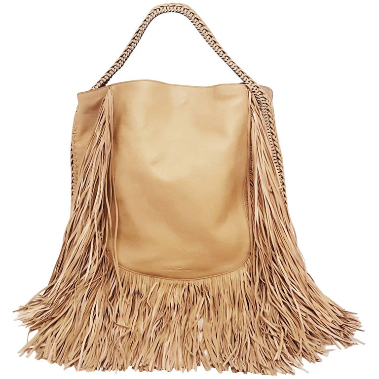 55249b4da6 Salvatore Ferragamo Hobo Tote with Long All Around Bag Fringe For Sale at  1stdibs