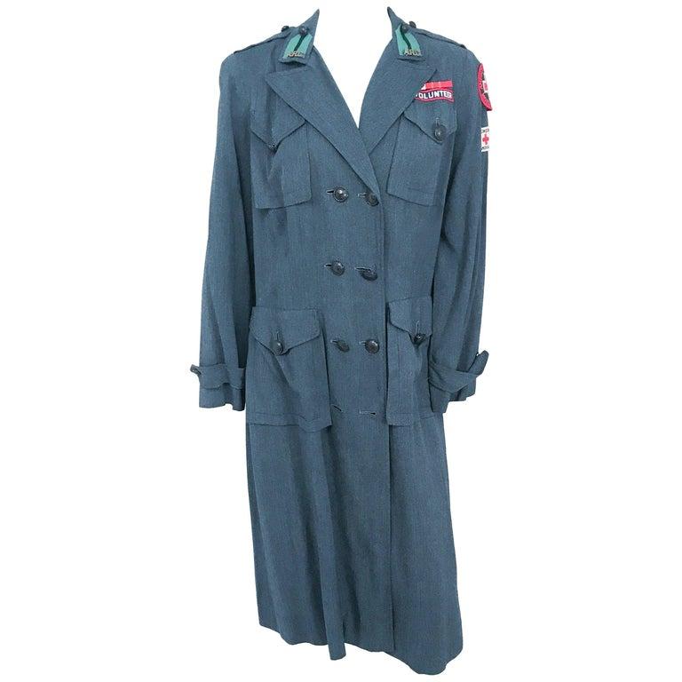 1940s WWII Red Cross Uniform
