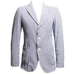 Comme Des Garcons Homme Single Breasted Gingham Jacket