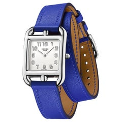 Hermes Cape Cod Blue Electric Double Strap Wristwatch