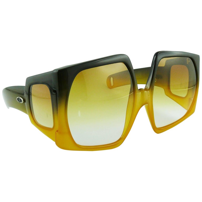 Christian Dior Vintage Space Age Oversized Sunglasses