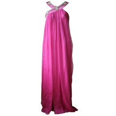 Christian Dior Vintage Haute Couture Silk Embellished Gown