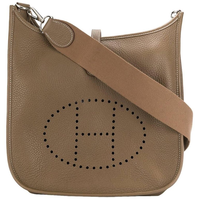 Hermes Etoupe Evelyn Bag