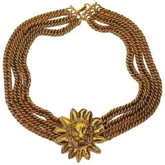 Chanel Vintage Leo Choker Necklace