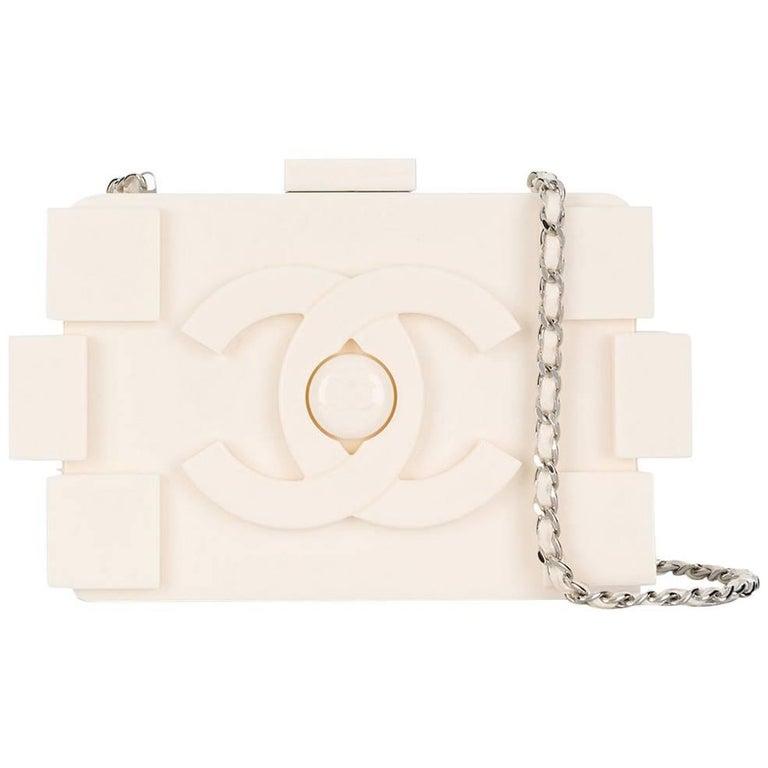 c9484aefd054 Chanel White Lego Brick Shoulder Bag at 1stdibs