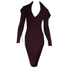Maroon Jean Paul Gaultier Sweater Dress