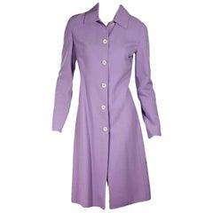 Purple Celine Stretch-Wool Coat