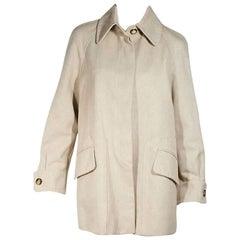 Tan Vintage Hermes Cotton Coat