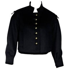 Black Yves Saint Laurent Wool Jacket