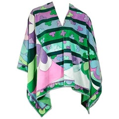 Multicolor Vintage Emilio Pucci Printed Cotton Cover-Up