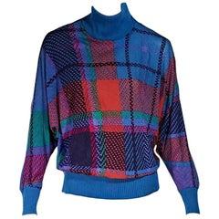 Multicolor Vintage Leonard Paris Turtleneck Sweater