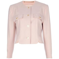 1990s Louis Féraud Vintage Pink Skirt Suit