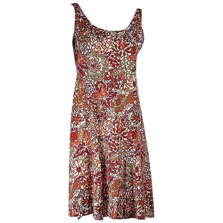 Multicolor Vintage Emilio Pucci Cotton Dress