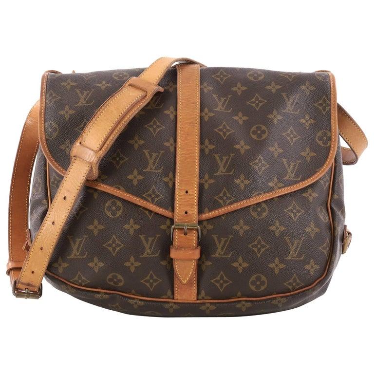 Louis Vuitton Saumur Handbag Monogram Canvas MM