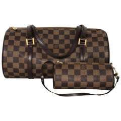 Louis Vuitton Damier Ebene Papillon with Little Pouch Shoulder Bag
