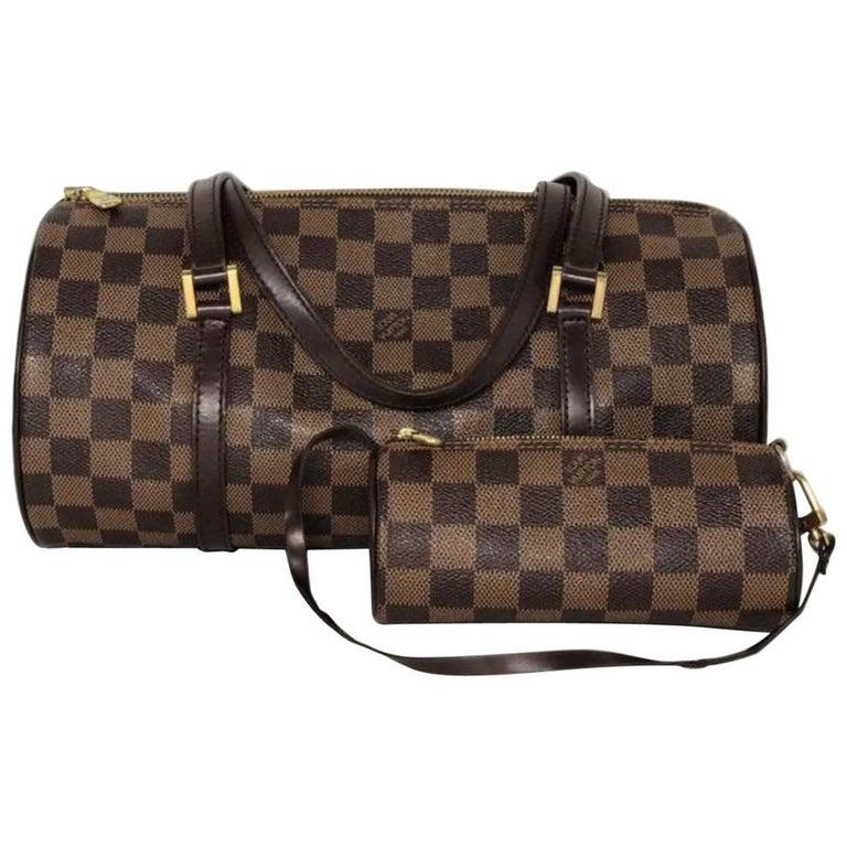 Louis Vuitton Damier Ebene Papillon with Little Pouch Shoulder Bag