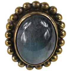 Stephen Dweck Sterling silver Bronze Ring Never worn 1990s