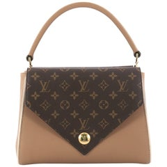 Louis Vuitton Double V Handbag Calfskin and Monogram Canvas from 2018