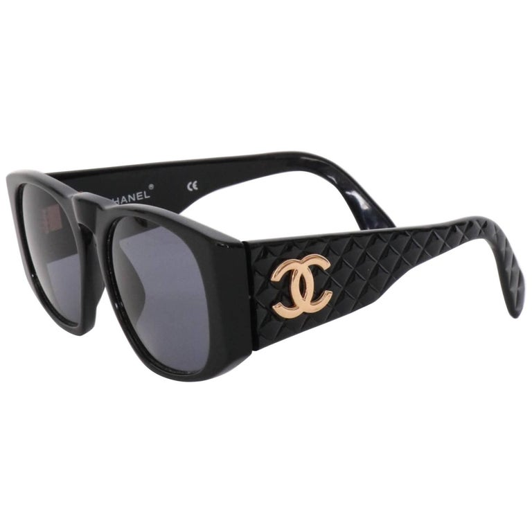 a61f3a61156 Chanel Sunglasses with Quilted Sides and Gold Toned Logo